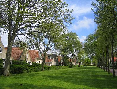 Huisjes in het centrum van Schiermonnikoog