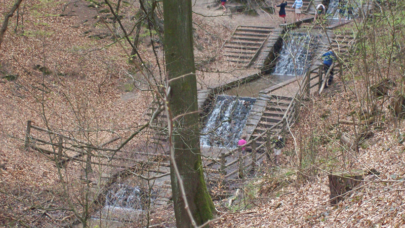 de grote watervallen bij Loenen