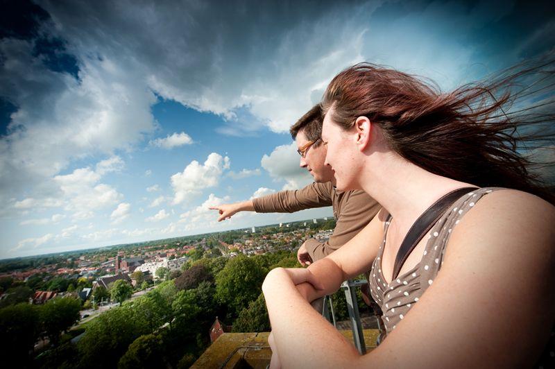 Vanaf de uitkijktoren Woldberg