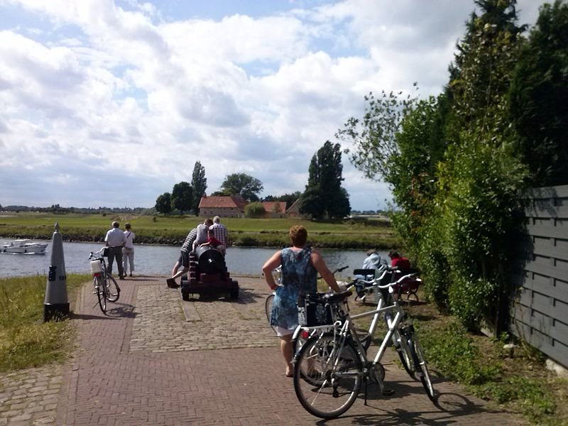 Vestingstadje Stevensweert met uitzicht op België