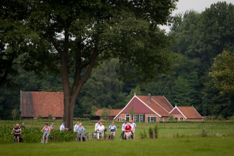 Fietsers In Nationaal Landschap