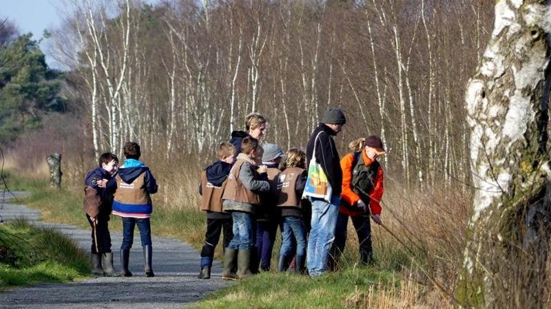 groep wandelaars