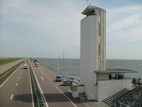 Monument on Afsluitdijk
