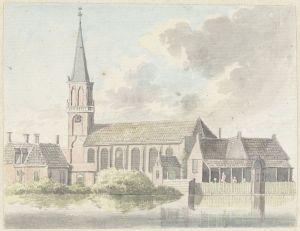 Kerk te Broek in Waterland, Hendrik Tavenier 1789 Bron Rijksmuseum