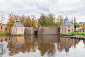 Spanjaardsgat waterpoort tussen Granaattoren-Duiventoren bij Kasteel van Breda