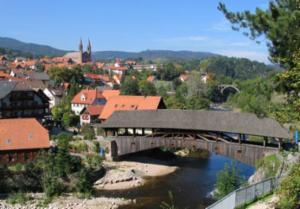 De houten brug in Forbach