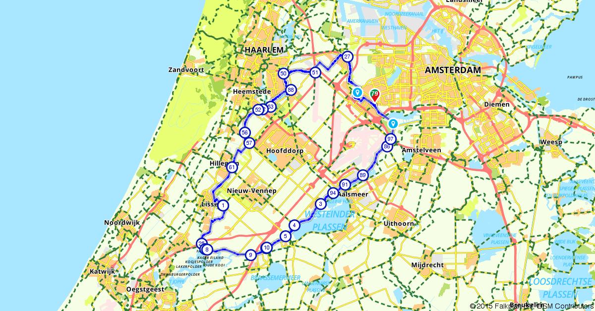 Fietsroute 189106 Rondje Haarlemmermeer