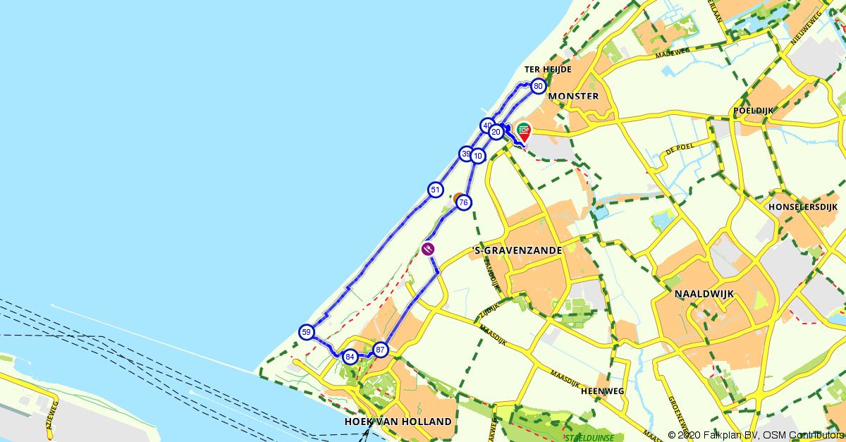 wandelen hoek van holland