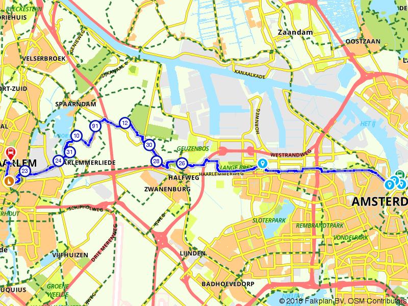 Von Uffenbach Route deel 9 (Amsterdam - Haarlem)