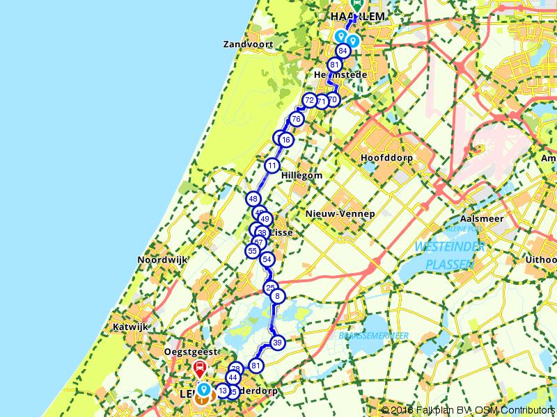 Von Uffenbach Route deel 10 (Haarlem - Leiden) Juni t/m Aug*
