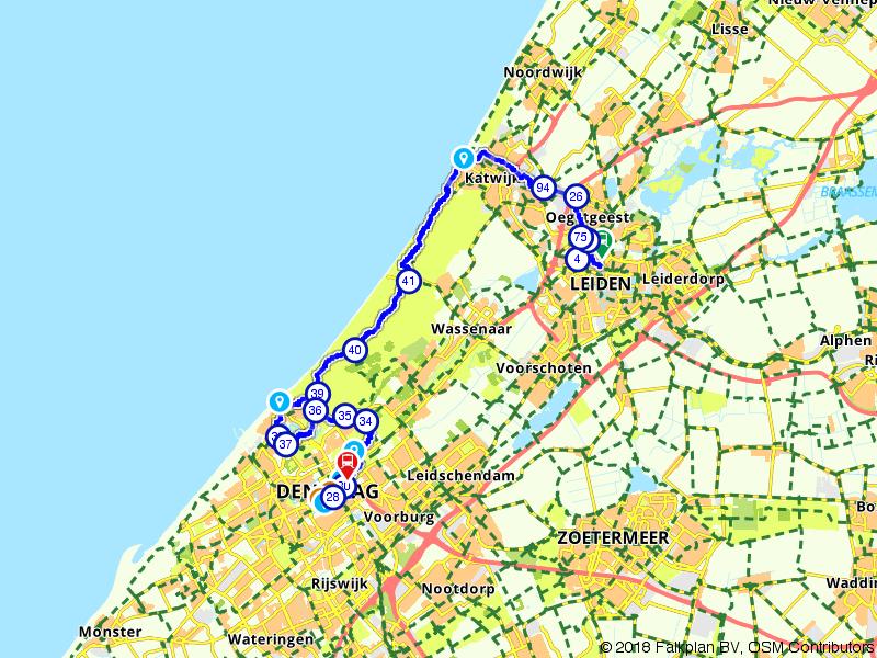Von Uffenbach Route deel 11 (Leiden - Den Haag)