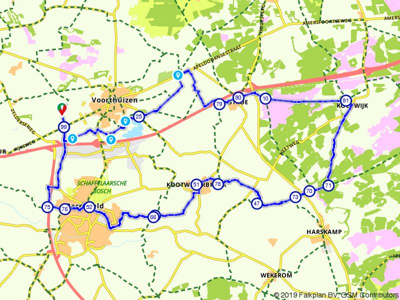 Kootwijkerzand en Boswachterij Kootwijk vanuit Voorthuizen