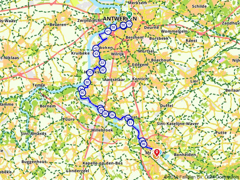Von Uffenbach Route deel 18 (Antwerpen - Mechelen)