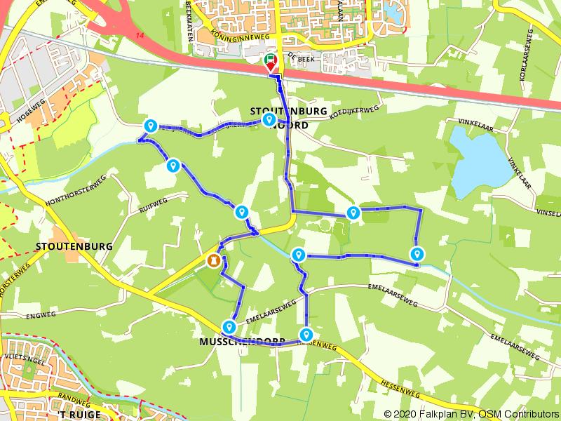 Wandelen van Hoevelaken naar Stoutenburg
