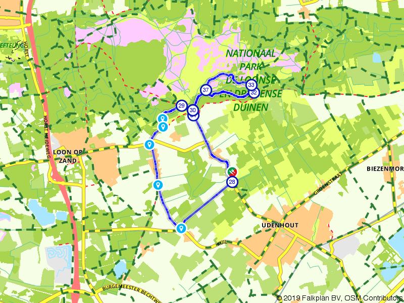 Rondje Loonse Drunense Duinen vanuit Udenhout