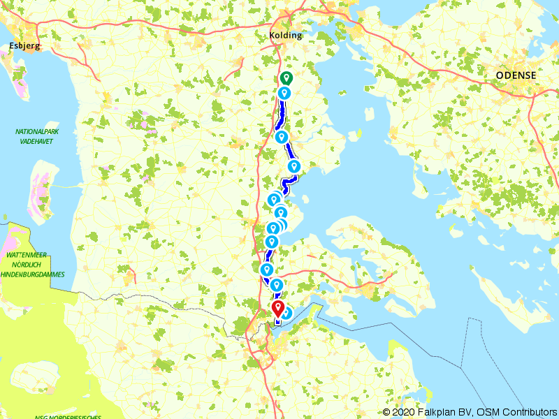 Zuid-Jutland (Sønderjylland) Christiansfeld - Kollund