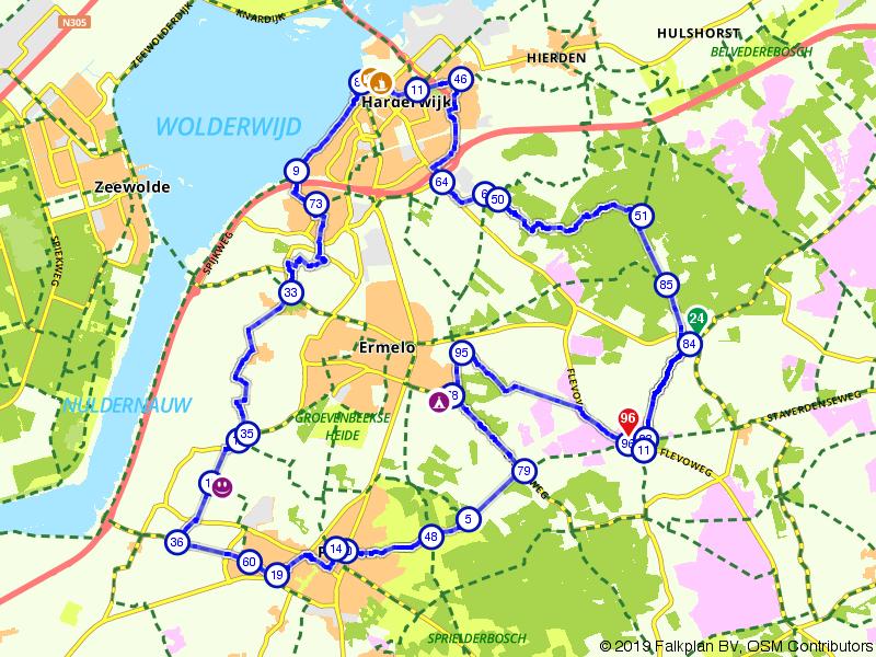 Rondje fietsen langs Putten, Ermelo en Harderwijk