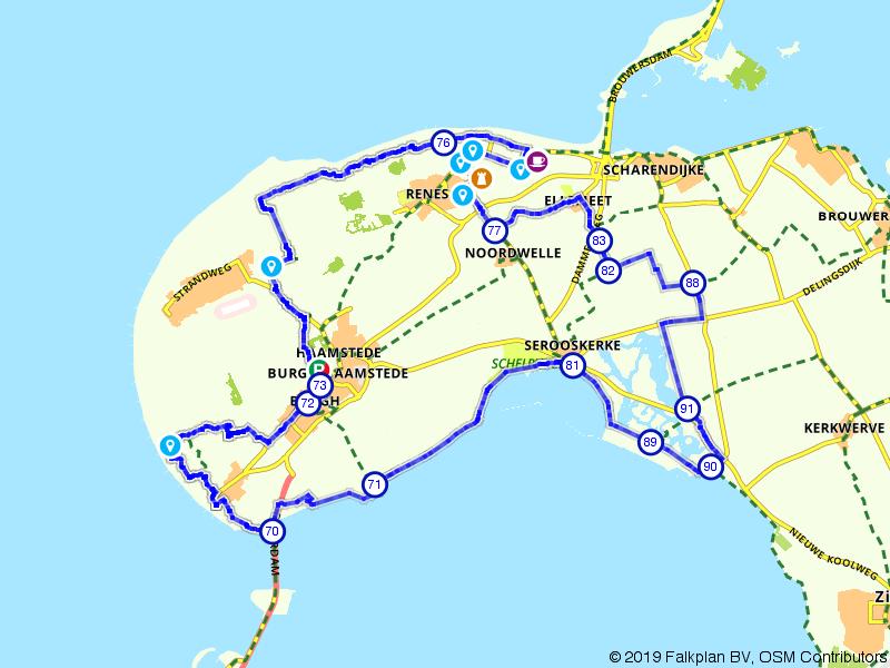 Rondje bos en strand rondom Renesse en Burgh-Haamstede