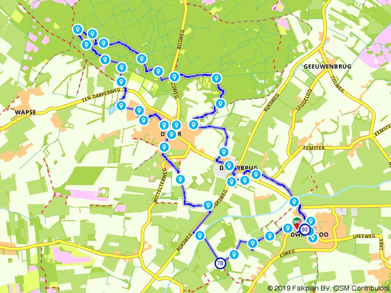De Ster van Dwingeloo route Diever