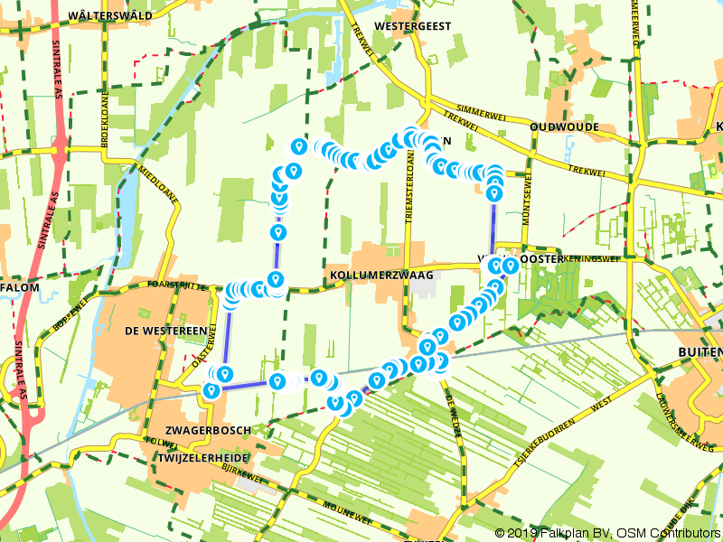 GPX Bestand MF/ Route door coulissenlandschappen