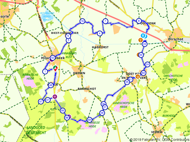 Genietroute rond Hilvarenbeek