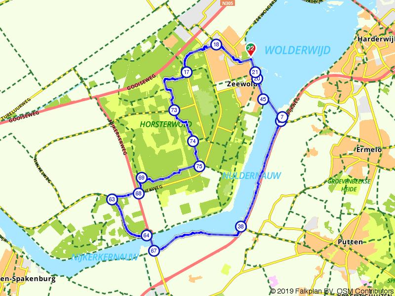 Zeewolde-Spakenburg route