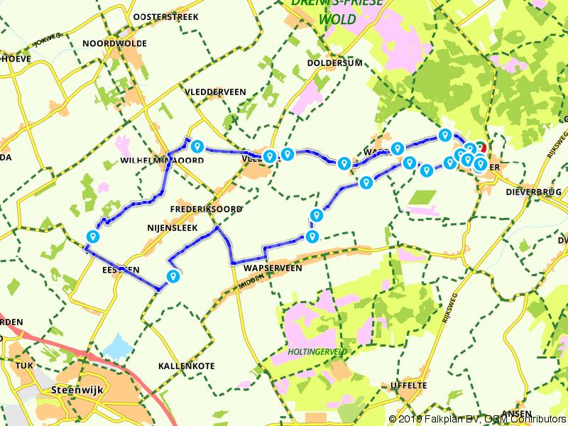Drentse Fiets4Daagse - Fietsroute 30 km