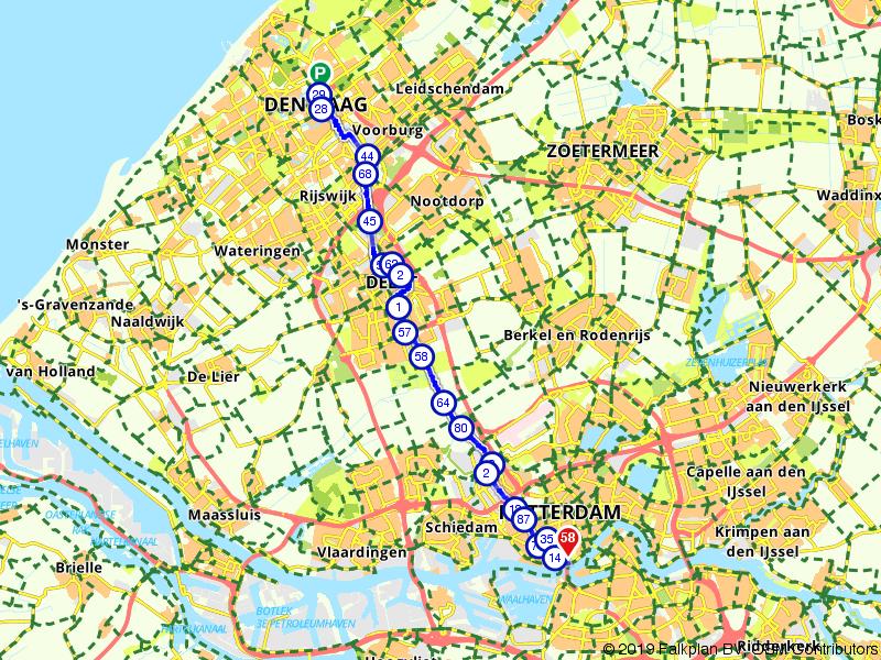 Vaartenroute - Fietsen tussen Hofstad & Maasstad