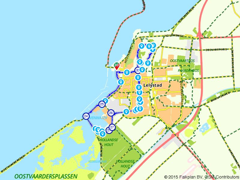 Batavia Stad - Hollands Hout - Zuigerplasbosroute