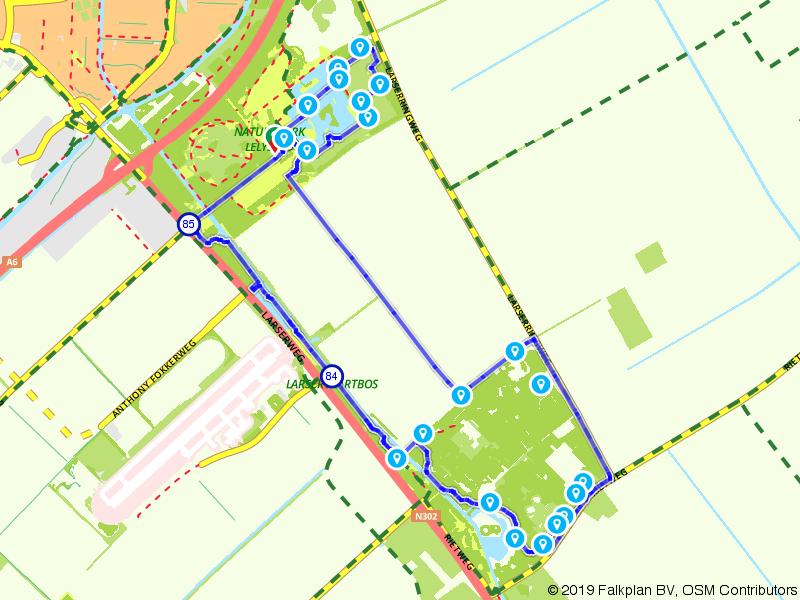 Natuurpark - Larserbosroute
