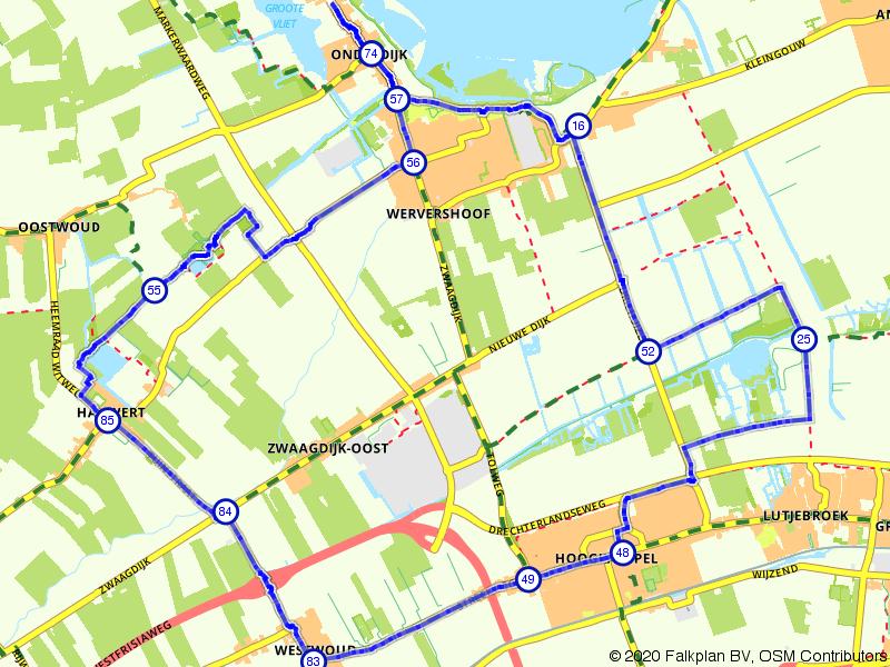 Route de boorden van het IJsselmeer