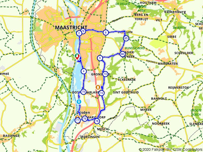 Maastricht langs de Maas en Savelsbos