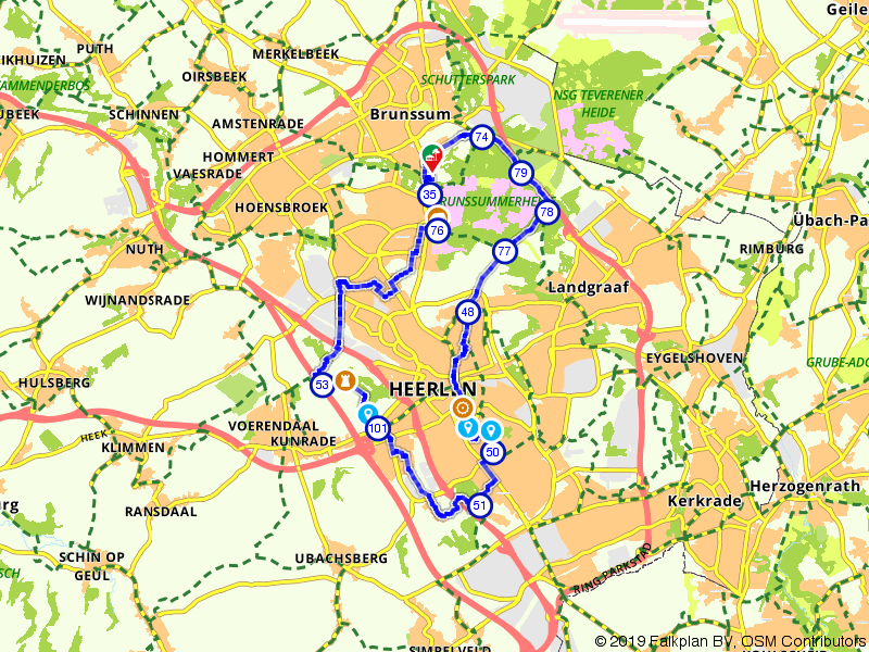 Brunssummerheide en omgeving Heerlen