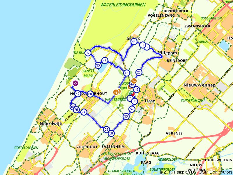 Landgoed De Keukenhof vanuit Noordwijkerhout