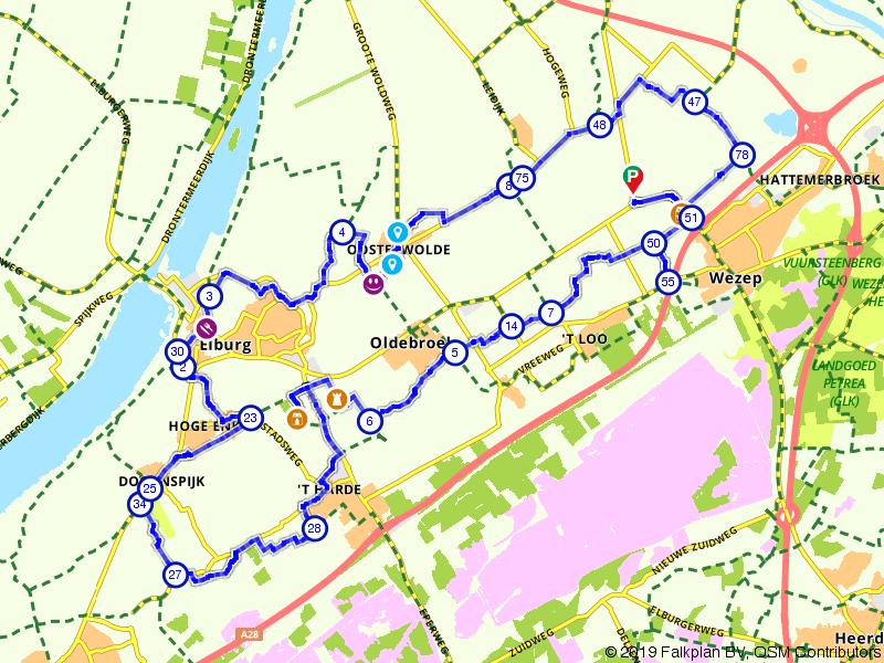 Langs landgoederen tussen Elburg en Wezep