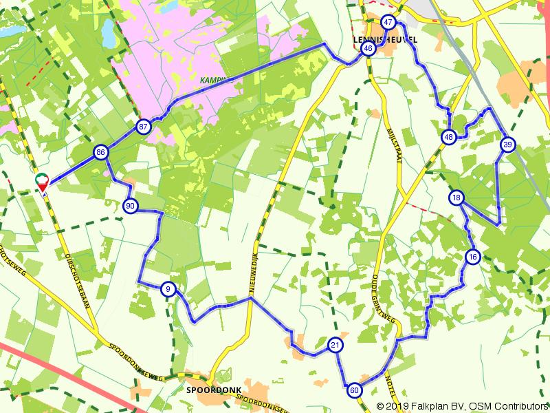 Door de Balsvoort, Smalbroeken en Veldersbos