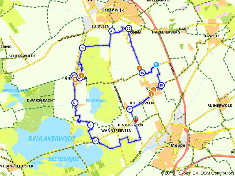 Kolderveen via Wanneperveen