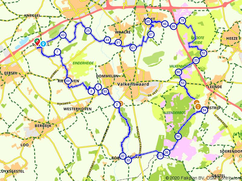 Valkenhorst, Galgberg, Leenderbos en De Malpie