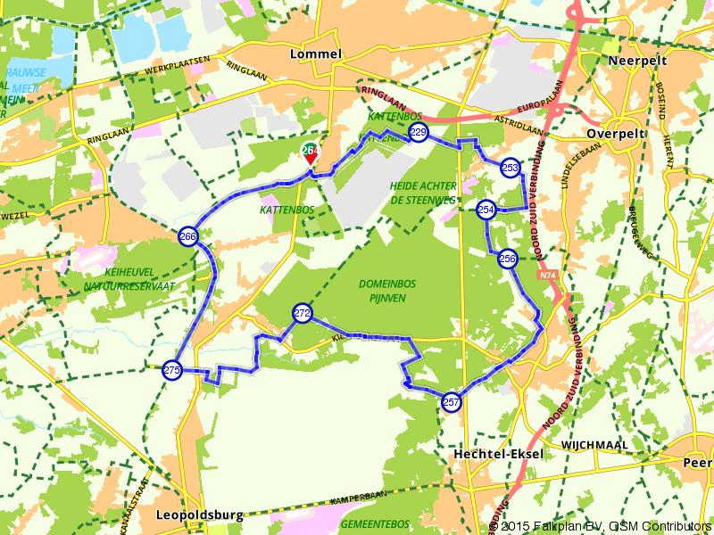 Heidegebied nabij Lommel