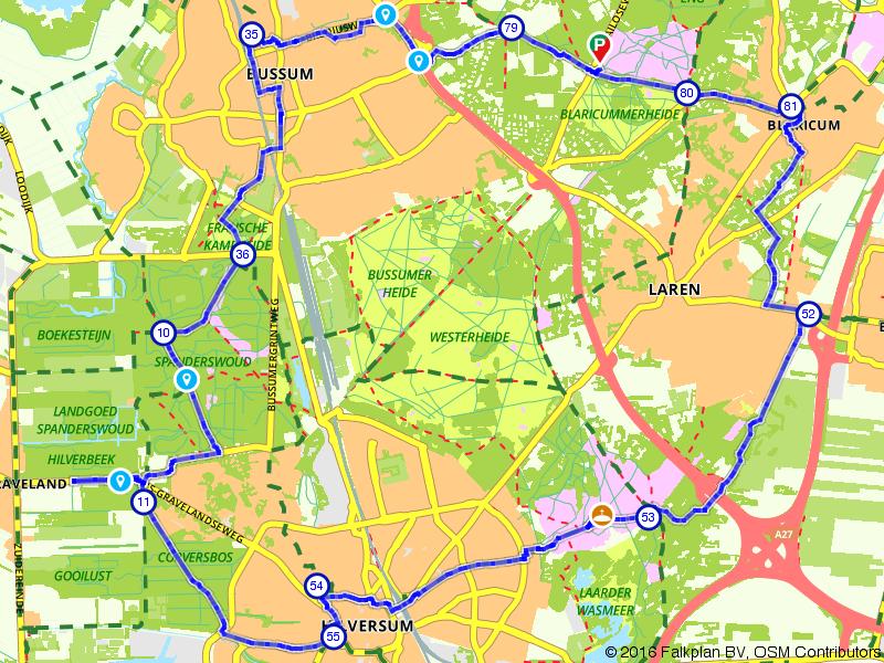 Rond het Gooi Bussum, Laren en Hilversum