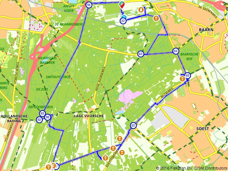 Tussen Hilversum, Baarn en Bilthoven de Lage Vuursche