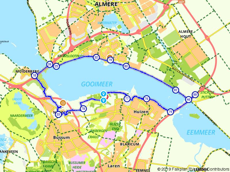Om het Gooimeer Huizen, Almere en Naarden