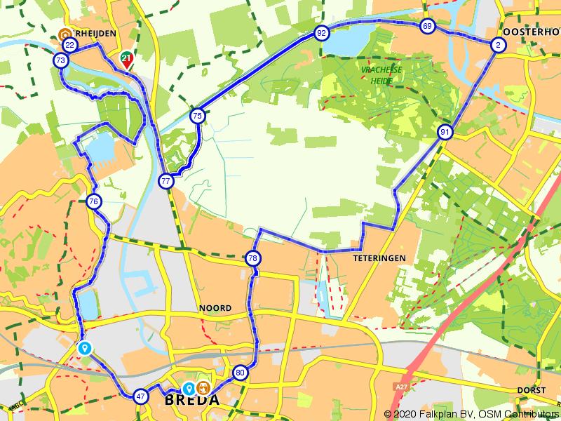 Historische fietsroute door Brabant