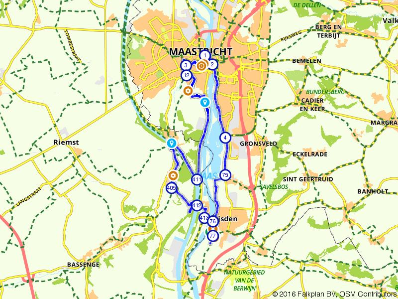 Eijsden, Maastricht en Plattenberg