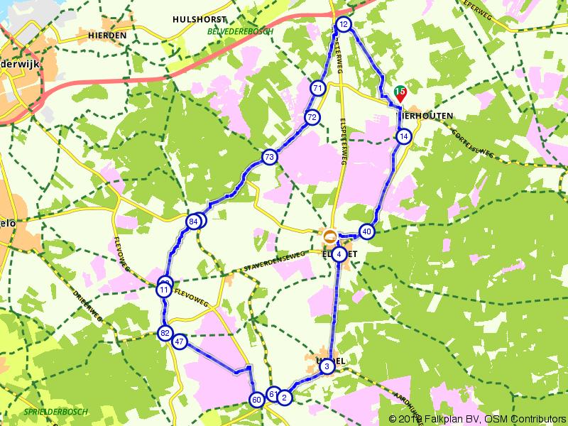 Door bos en heide op de Veluwe