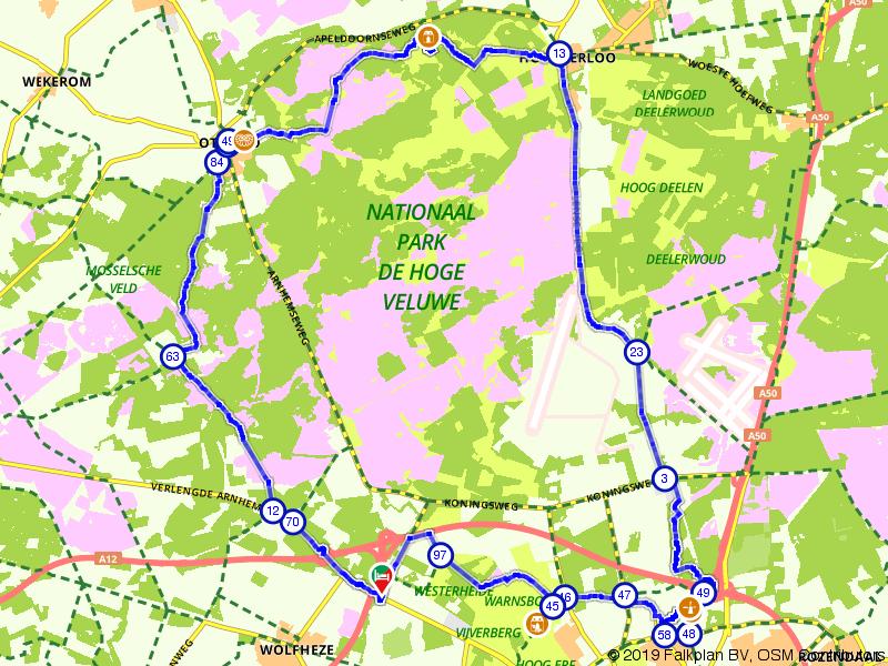 Historische bouwwerken en natuur in de Veluwe
