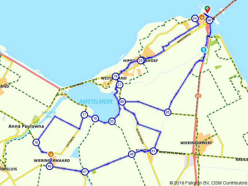 Fietsen door de polders van Hollands Kroon