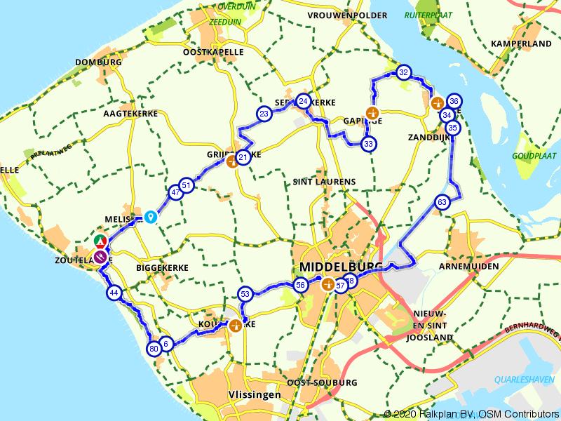Rondje Zoutelande, Veere en Middelburg