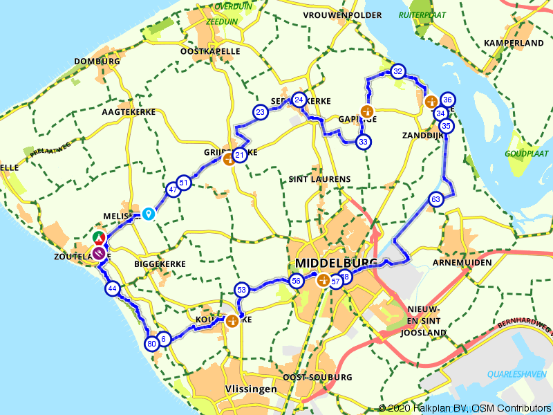 Zoutelande, Veere en Middelburg