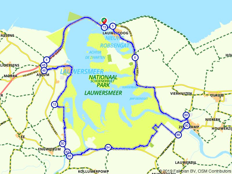 Lauwersoog, Engwierum en Zoutkamp